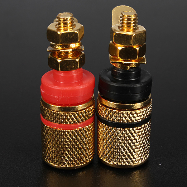 2pcs Gold Plated Amplifier Speaker Terminal Binding Post Banana Plug Socket Connector Suitable for 4mm banana plugs 200 pcs brass 4mm banana socket for binding post banana plug connector