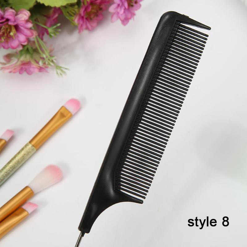 10 Pcs/set Profesional Rambut Sikat Sisir Salon Pemangkas Rambut Anti-Static Rambut Sisir Sikat Rambut Hairdressing Sisir Perawatan Rambut Styling Alat