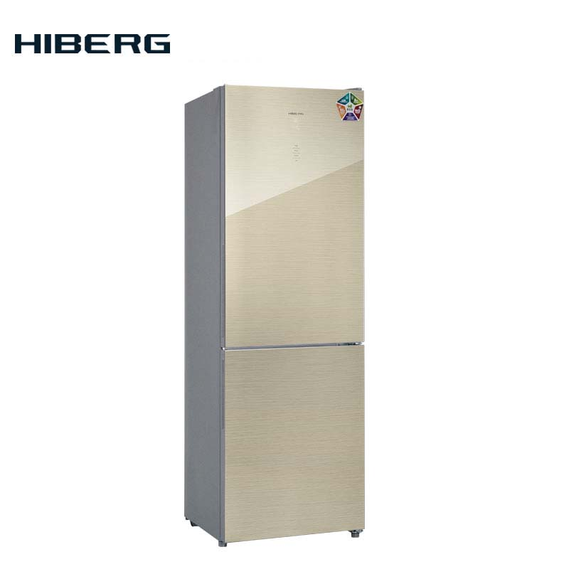 refrigerator with no frost system hiberg rfc 332d nfw Refrigerator with glass door and no frost system HIBERG RFC-311NFGJ