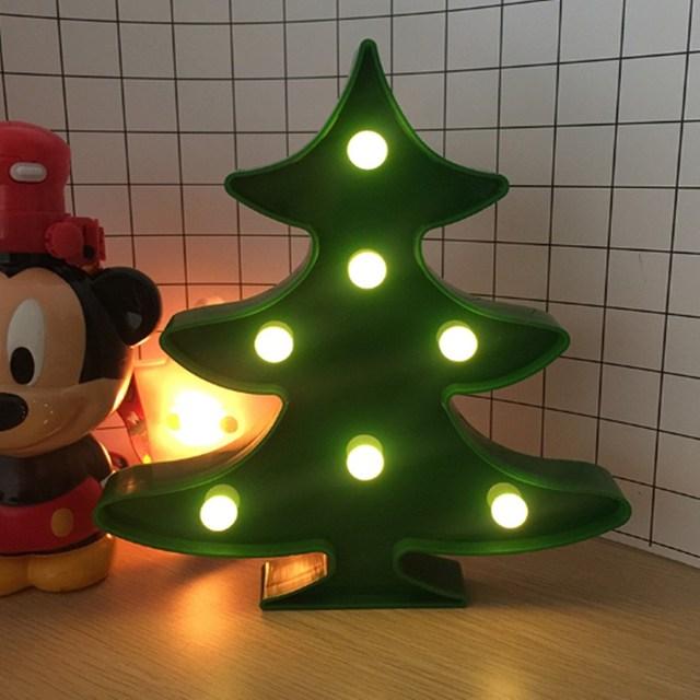 Kerstboom Led verlichting Groen Verlichte Lamp Batterij Aangedreven ...