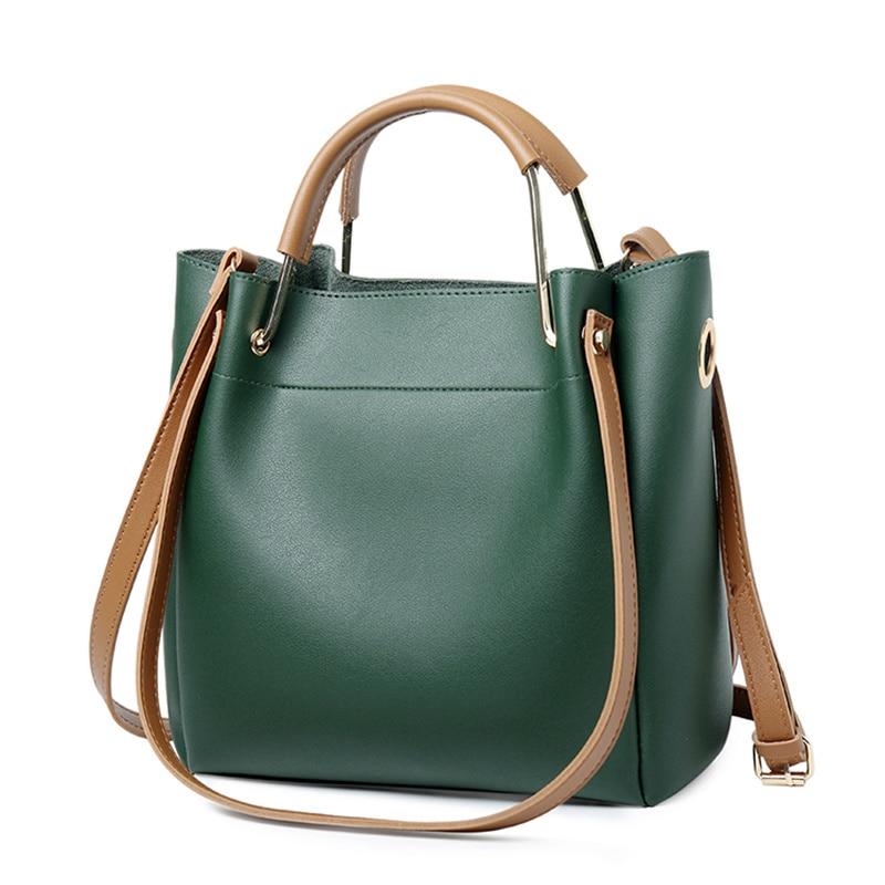 Bucket bag handbag fashion simple large capacity commuter bagBig bag casual shoulder bagOblique cross female pack Brand Designe