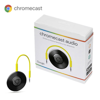 Google Chromecast Audio Takes Music to Speakers Without Connecting Streaming Device High Quality Sound Android iOS Laptop Black