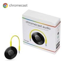 Google Chromecast аудио принимает музыку к динамикам без подключения потокового Устройства высокое качество звука Android iOS ноутбук черный