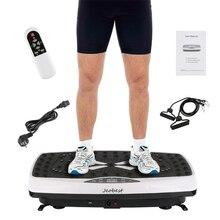 Тренажер для фитнеса, тонкая вибрационная машина, тренировочная пластина, платформа, формирователь тела с эспандерами+ пульт дистанционного управления, набор инструментов HWC