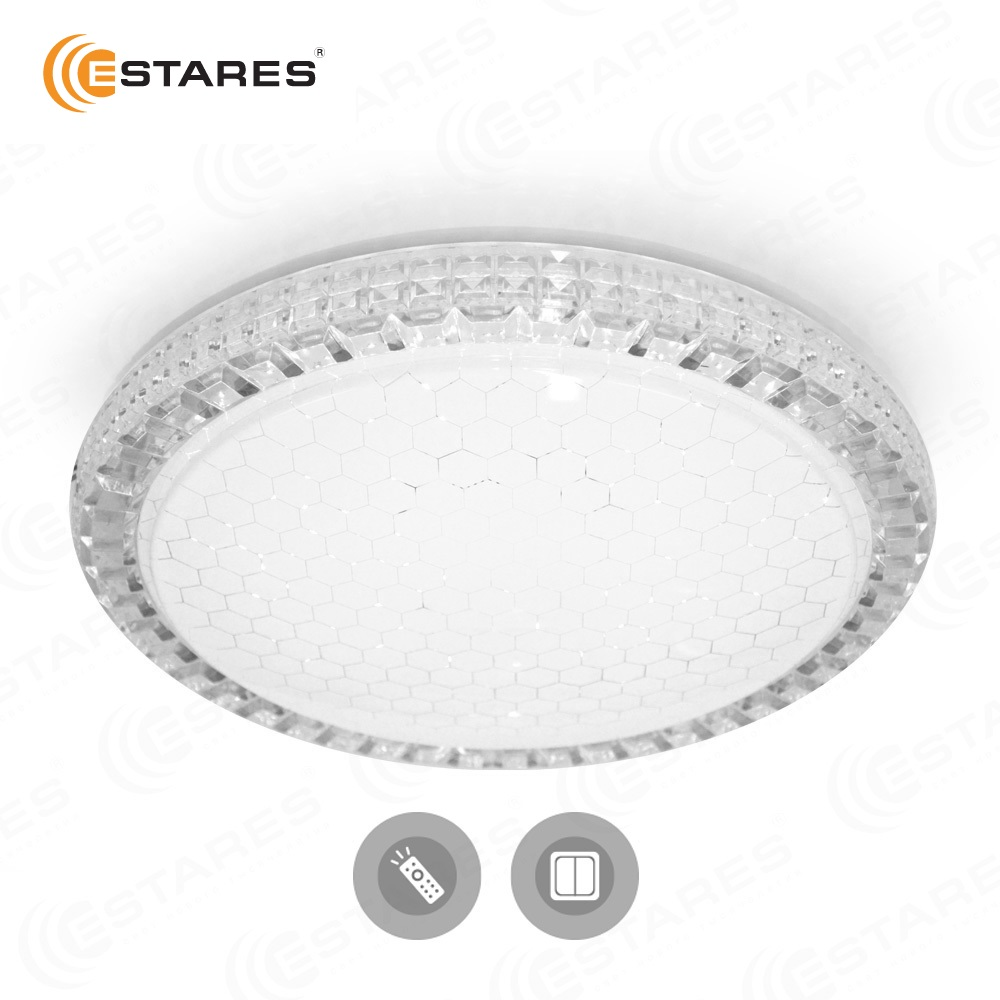 цены Estares Akrilika SOTA CLEAR/SHINY-220-IP44 Ceiling Light Remote Control