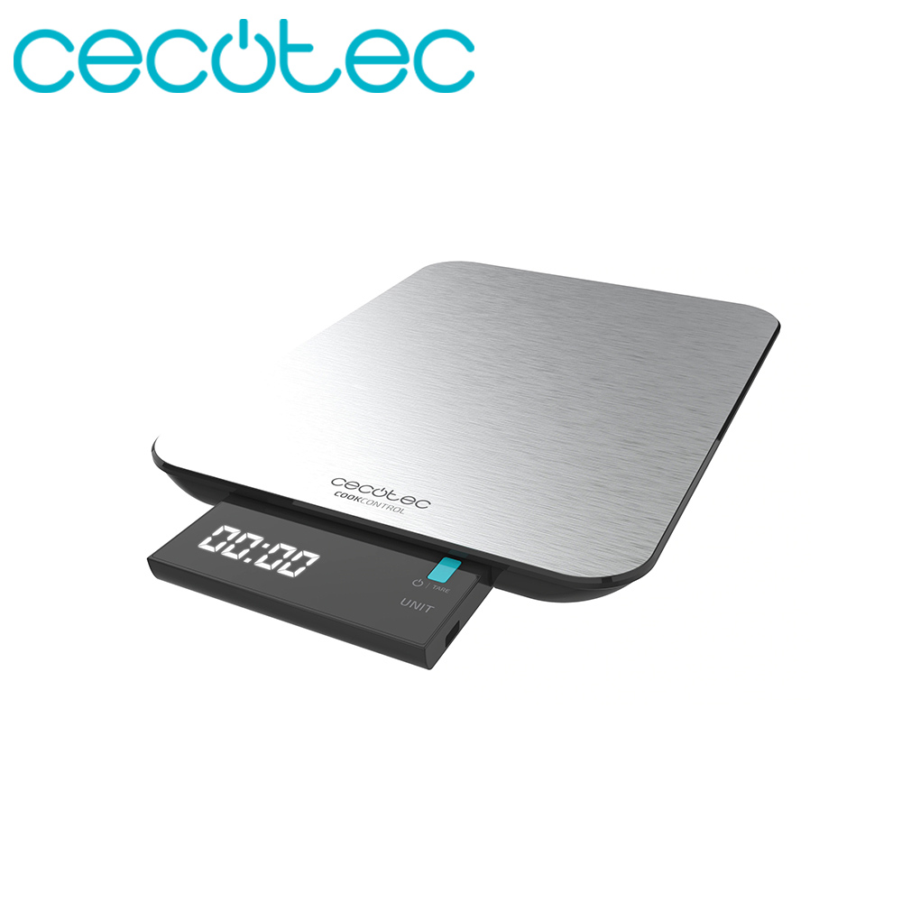 Cecotec Digital Kitchen Scale Cook Control 9000 Waterproof Maximum Accuracy LCD Touch Sensitive Smart Design