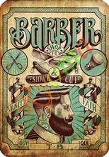 Vintage Hairdresser Tattoos Patterned Posters Kraft paper Interior Painting Restoring Wall Sticker Barber shop Home Decoration d