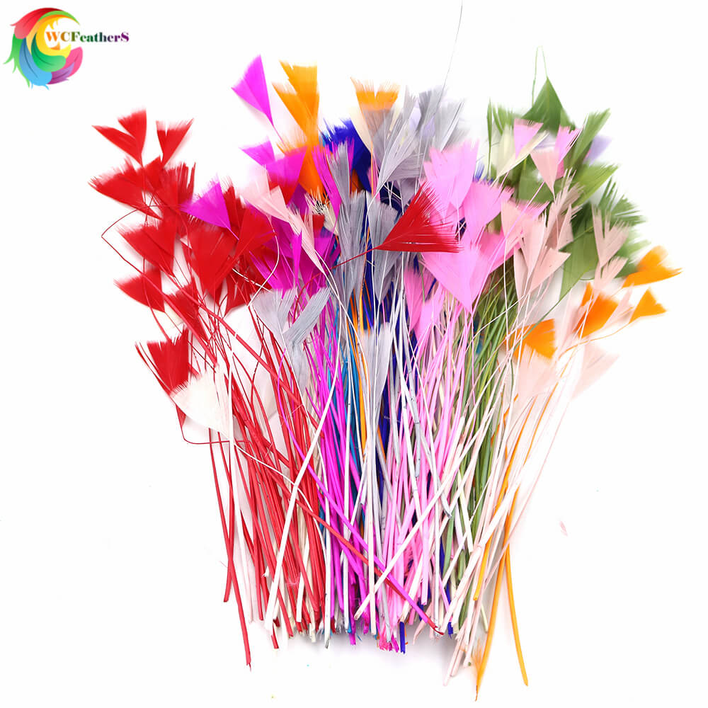 Natural Colorful Stripped Duck Feather 4-6inch Headdress Jewelry Decor Accessories DIY Handwork Art Feathers