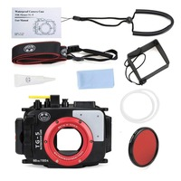 Seafrogs 195FT/60M Underwater camera waterproof diving housing for Olympus TG 5 as PT 058 with Red Filter 67mm for gift