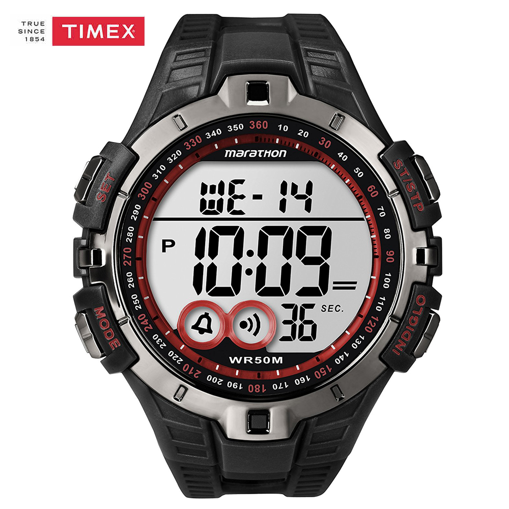 Timex Men Watches T5K423 Chronograph Resin Strap Watch Outdoor Multi-function Timing Waterproof Luminous Quartz Indiglo Watches  timex timex t5k423