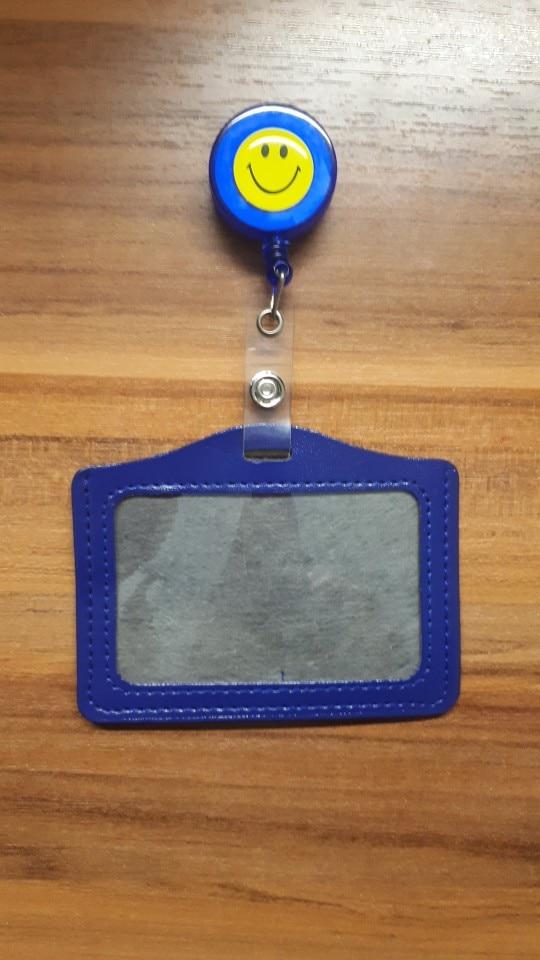 eTya Women Men Credit Card Case Holder Cartoon Bank Credit Card Bag  Bus ID Holders Identity Badge with Cartoon Retractable Reel photo review