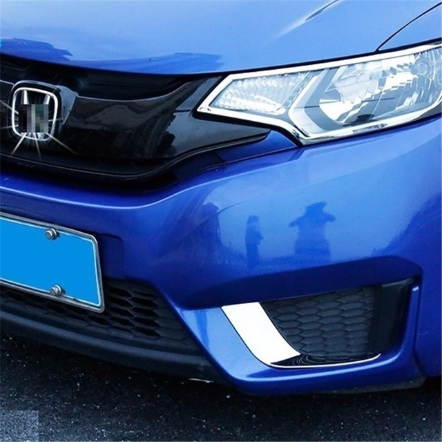 Front Fog Lamp exterior Excent auto modified mouldings bright sequins car styling accessories protecter 14 15 16 FOR Honda fit