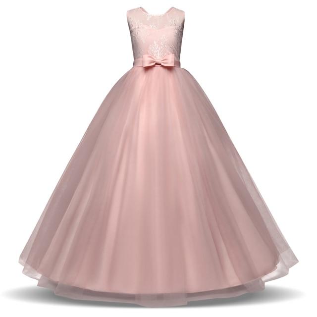 Rosa Niñas Vestidos formal partido desgaste para adolescentes de los ...