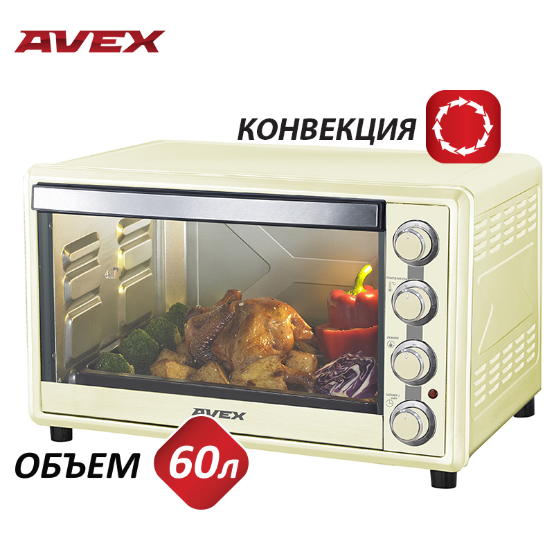 Mini Electric oven with convection AVEX TR 600 YCL