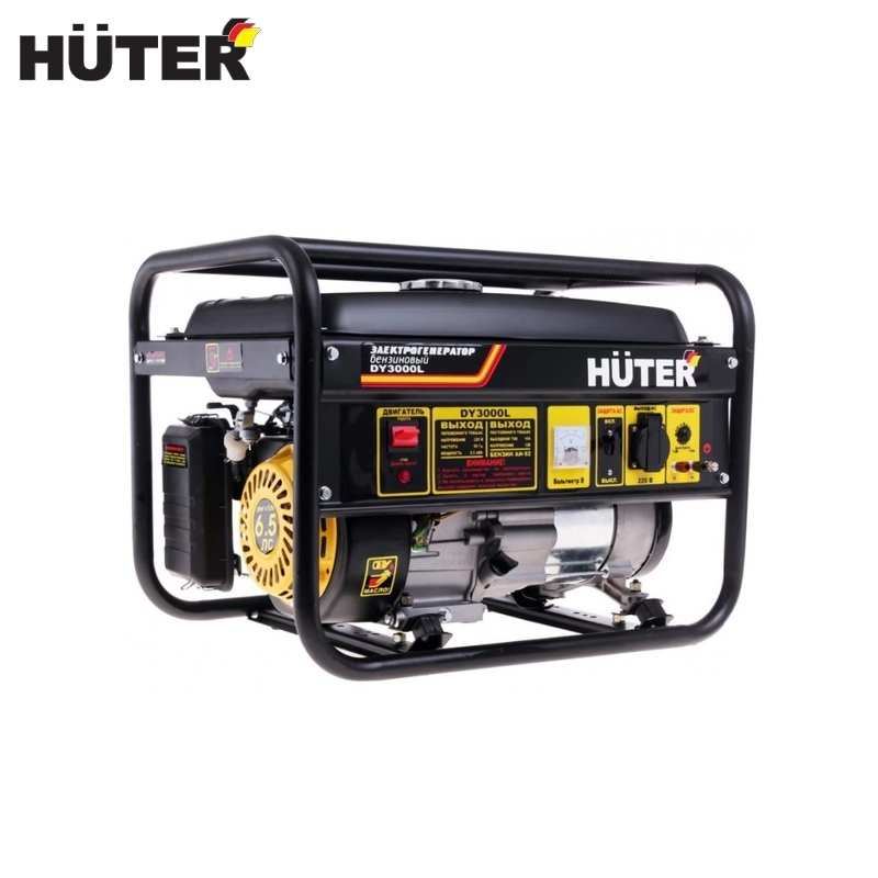 Electric generator HUTER DY3000L Power home appliances Backup source during power outages Benzine power stations цена