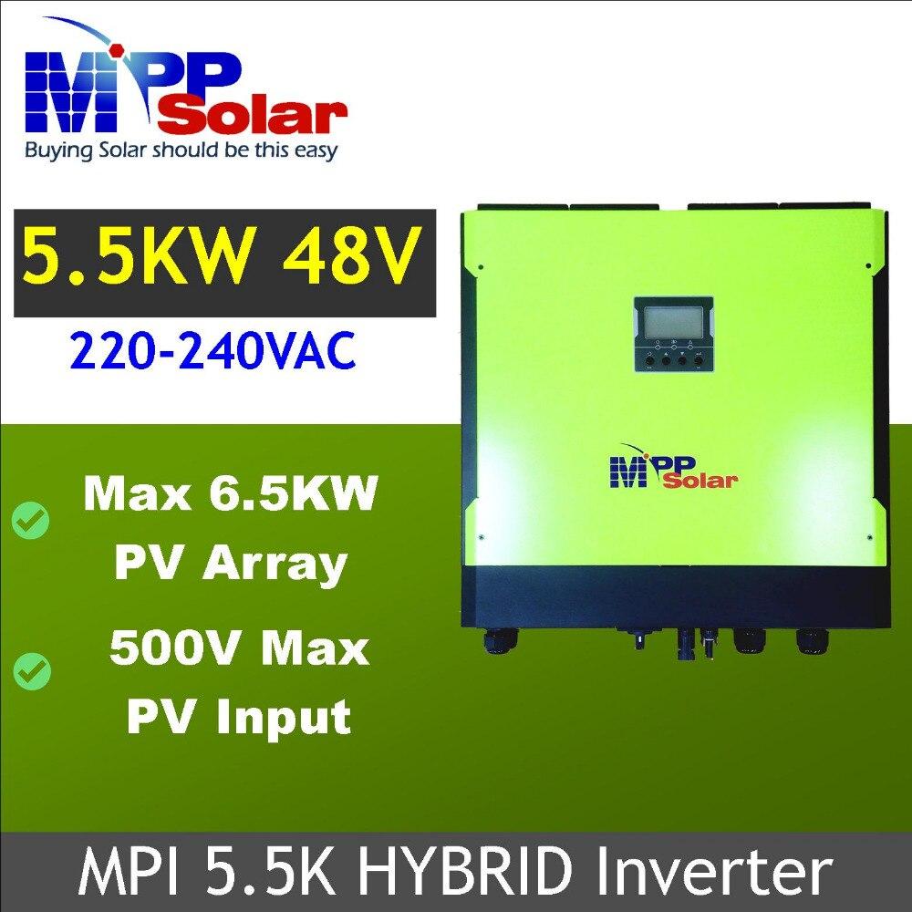 MPI 5500w Hybrid solar inverter Grid tied Solar inverter Off grid solar inverter max PV