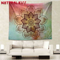 High Quality 150cm 150cm Square Tapestry Flower Polyester Hippie Tapestry Beach Shawl Throw Roundie Mandala Wall