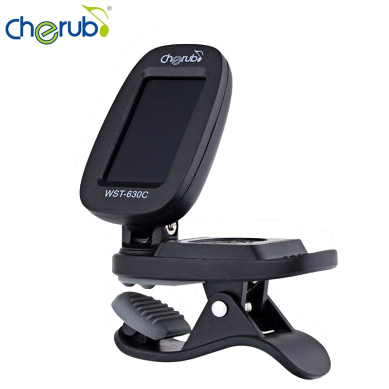 Cherub WST-630C New Automatic Clip-On Chromatic Guitar Tuner Metronome Twelve Average Tone Tuner Stringed Instruments Parts