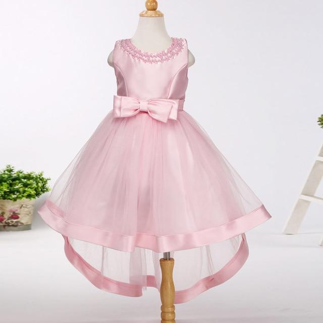 Mädchen Brautjungfer Hinter Schwanz Kleid kids Kittel designs ...