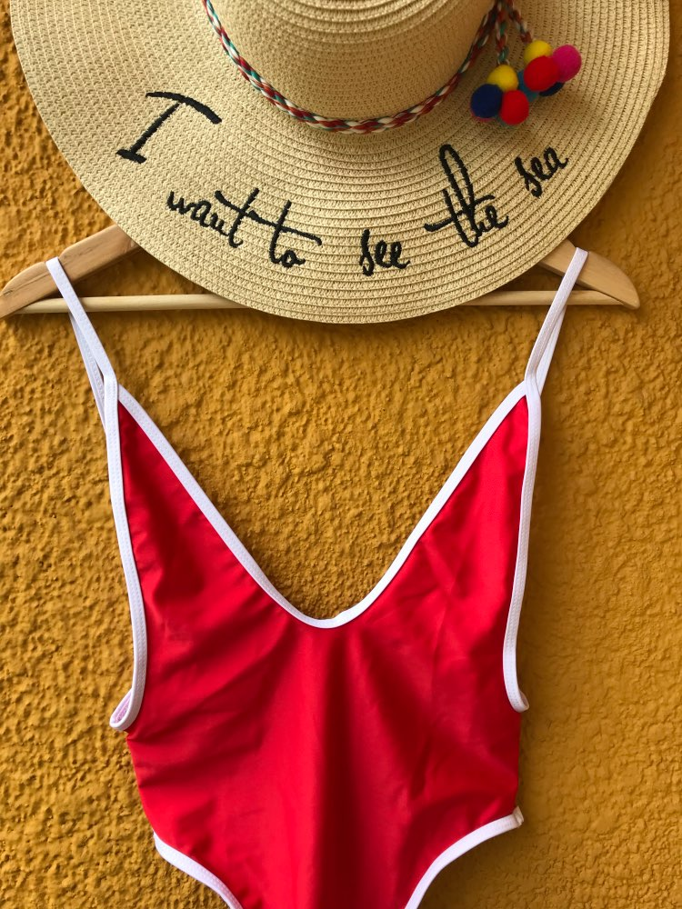 2017 Hot Women's One Piece Solid Beach Swimsuit Swimwear Bathing Monokini Push Up Padded