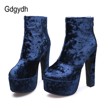 Gdgydh 2020 Fashion Autumn Women Ankle Boots High Heel Shoes