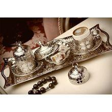 Аутентичный турецкий кофе эспрессо Сервировочный набор твердая медная чаша цветок