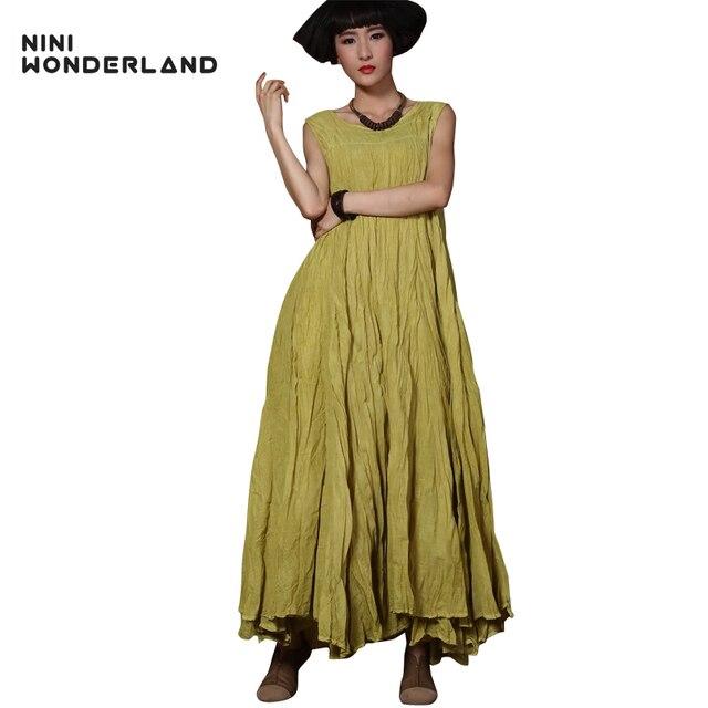 Nuove donne di estate di modo della boemia beach maxi vestito senza maniche  big swing irregolare vestito lungo per la femmina Vintage Vest dress 85010 eafd45070c1
