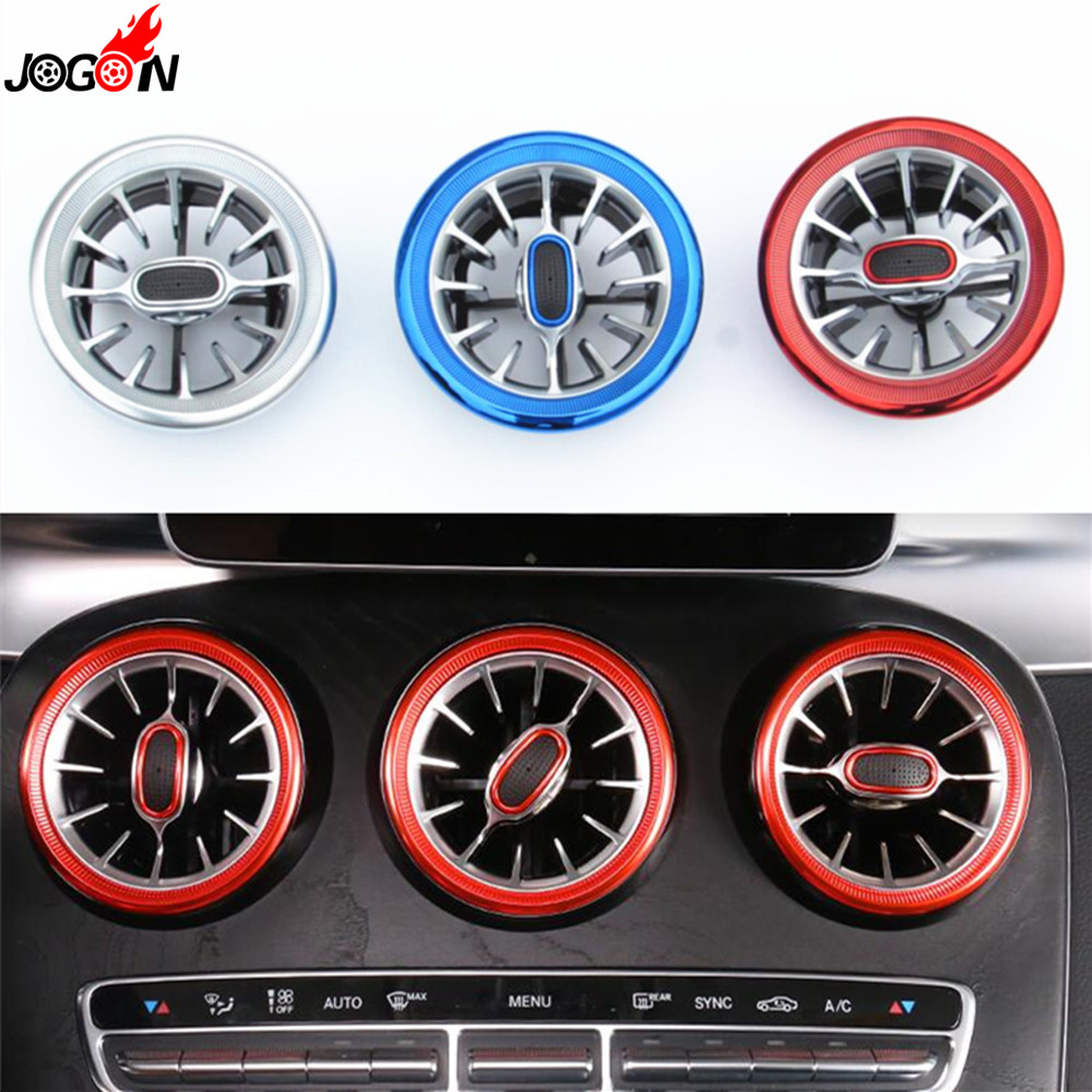 Interior Front Dashboard Air Condition AC Vent Outlet Turbo Replace Trim Ring For Mercedes Benz C