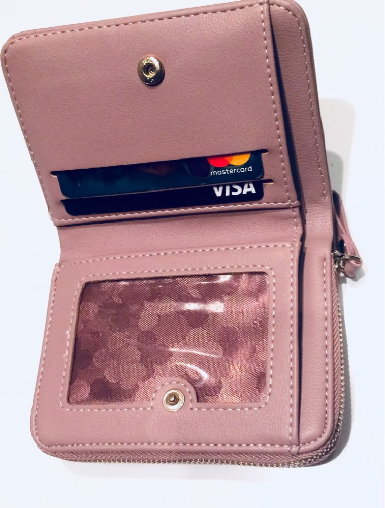 Weichen Women Credit Card Holders Wallet Fashion Pu Leather Business Card Holder Brand Zipper Card Purse Multifunction Id Holder photo review