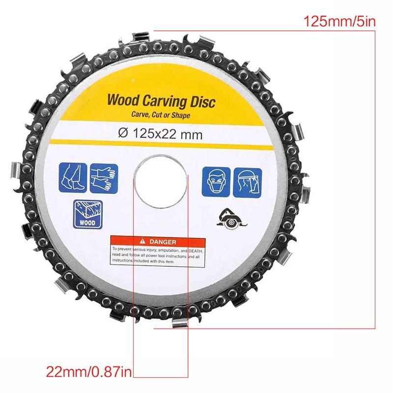 New 5 Inch Wood Carving Disc 14 Tooth Grinder Disc With Chain Saw Blades For 125x22mm Angle Grinder Carpenter Wood Cutting Tools (10)