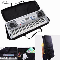 Zebra 61 Key Black Piano Keyboard Case Bag Electronic Music Carry Oxford Cloth Tote Music Keyboard Bag For Musical Instruments