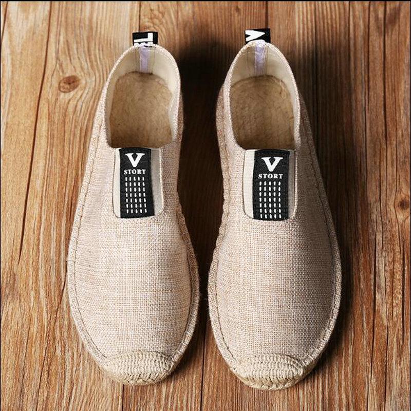 New blanc De Noir Pêcheur Hommes Summer Chaussures 18 Casual Broder kaki Plat Espadrilles Respirant Toile La Mocassins Linge HYFFaqw
