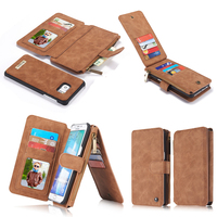 Genuine Leather Phone Wallet Bag Cover Case For Apple IPhone 5 5s SE 7 6 6s