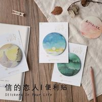 12 sets/1 lot Creative Chinese wind four Memo Pad Sticky Notes Escolar Papelaria School Supply Bookmark Post it Label