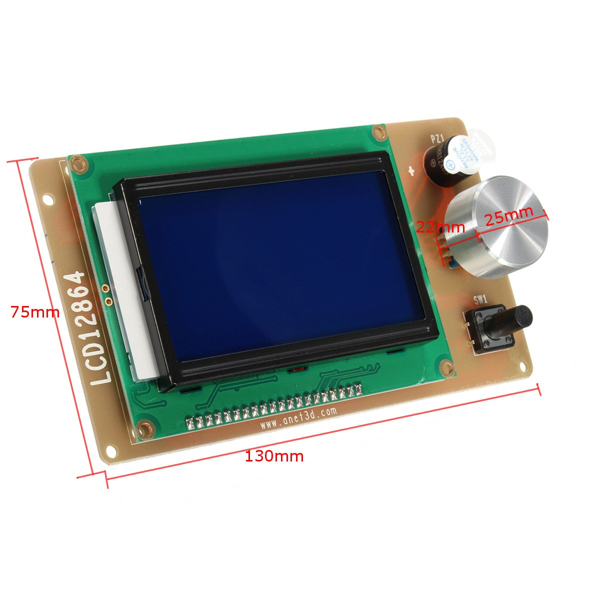 1Pc 3D printer RAMPS1.4 lcd 12864 control Lcd Module adjustable Large screen 12864 LCD 3 (inches) Motherboard integrated SD card1Pc 3D printer RAMPS1.4 lcd 12864 control Lcd Module adjustable Large screen 12864 LCD 3 (inches) Motherboard integrated SD card