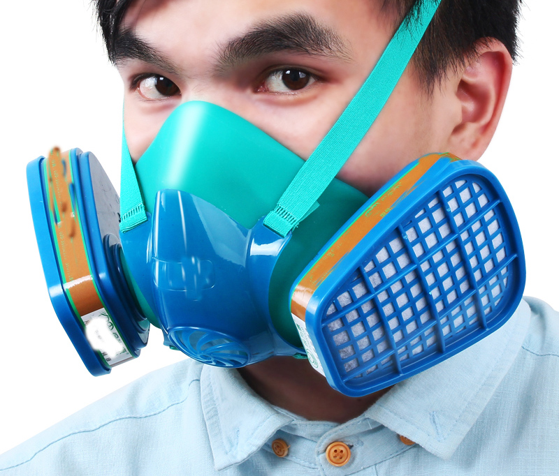 Anti Dust Masks Painting Pesticide Industrial Mask Pollution Respirator Spray Paint Special Activated Carbon Acetone Box Virus image