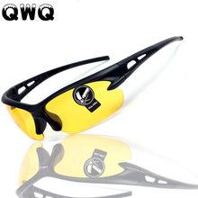 Óculos de sol Dos Homens de Condução Óculos de Sol Dos Homens De Segurança  HD Noite Amarelo Visão Óculos de Motorista Moda Uniss. c0e721e3df
