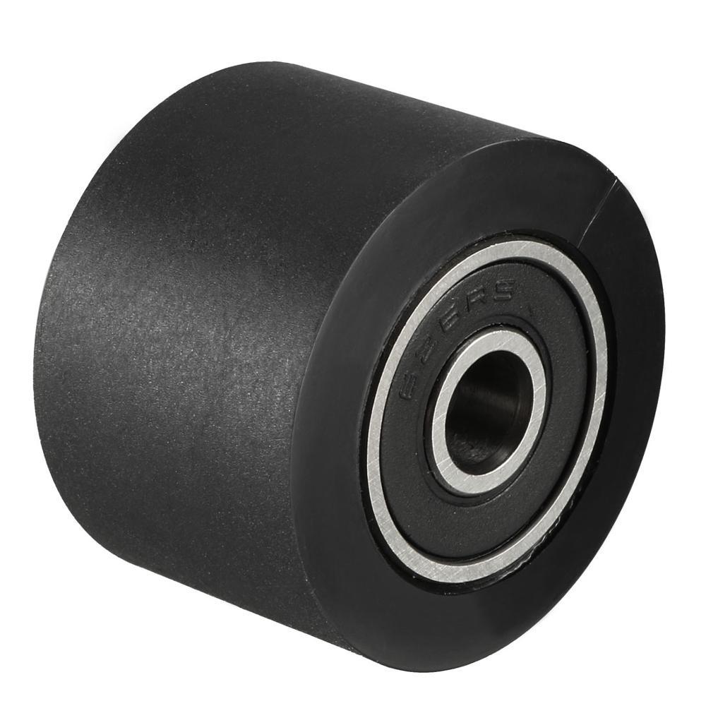 Uxcell 1pcs 5x30x30/6x30x20/6x30x30/8x30x20/10x30x20/10x30x30mm Black Roller Idler Bearing Pulley Sliding Conveyor Wheel
