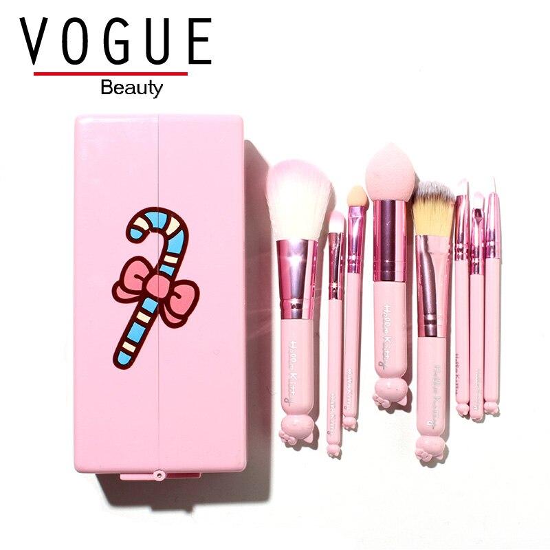 makeup brushes Original Hello Kitty Travel make up brush set Foundation Powder Eyeshadow Eyeliner Lip basic cosmetic beauty tool