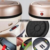 OLOEY Inductive Type Trash Can Smart Sensor Home Bathroom Dustbin Storage Barrels Rubbish Bin Stainless Steel Metal Trashtrash c