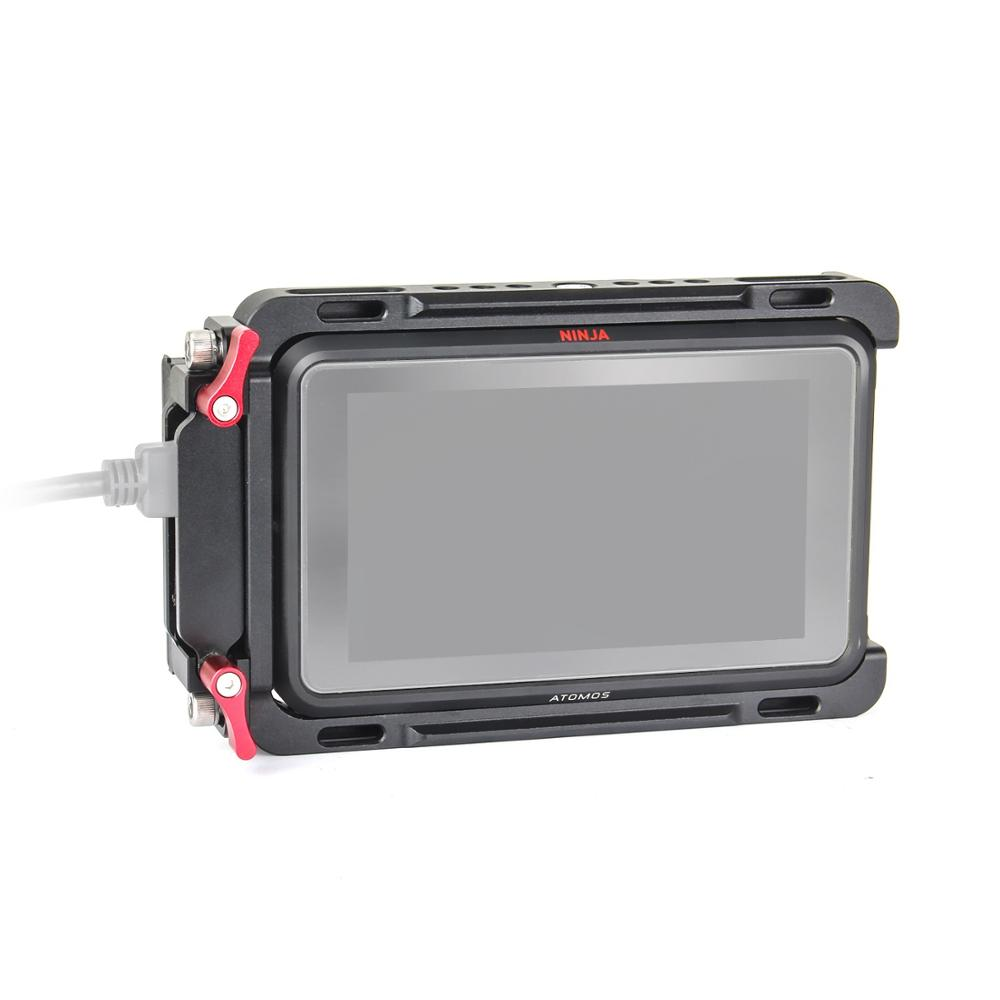 EachRig Monitor Cage with built-in NATO Rail and Extra HDMI Cable Clamp for ATOMOS Ninja V  Shinobi 5inch Camera Monitor