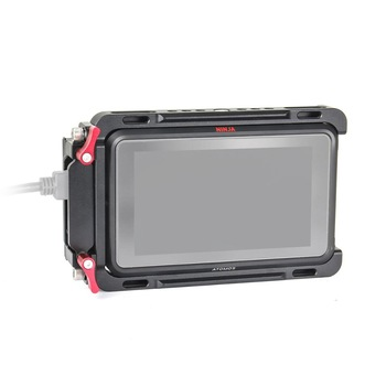 "EachRig monitorkooi met ingebouwde NATO rail en extra HDMI kabelklem voor ATOMOS Ninja V Shinobi 5 ""cameramonitor"