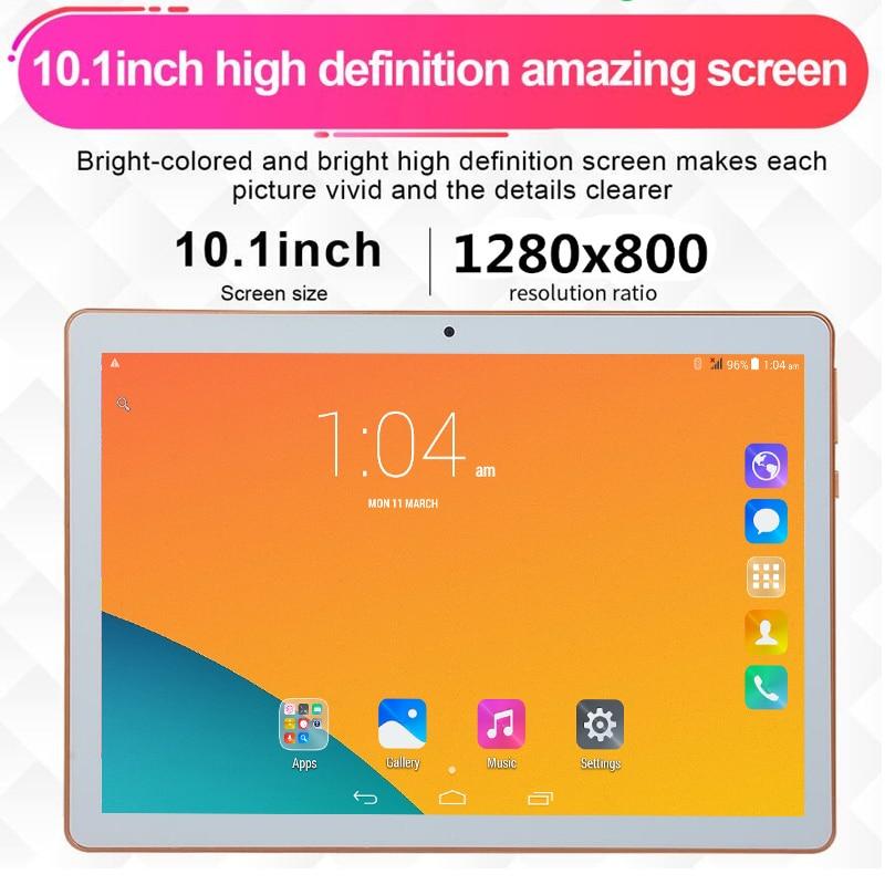 6 + 128 GB tablette pilulier PC T805C 10.1 Android 6.0 4 Core Ram 6 GB ROM 128 GB double SIM 10 pouces ordinateur portable Google WIFI GPS bluetooth 5MP