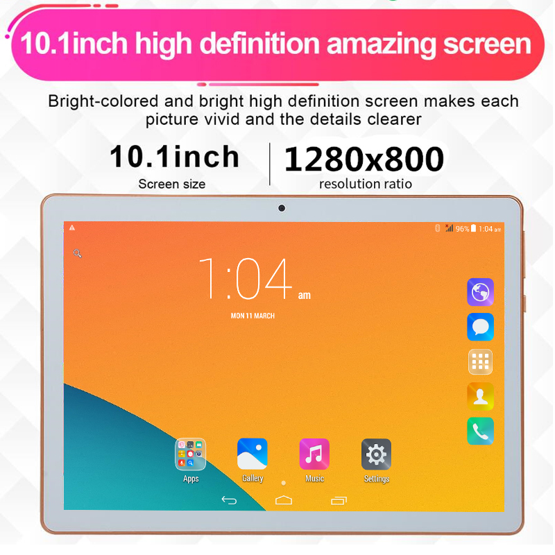 6+128GB pillbox Tablet PC T805C 10.1 Android 6.0 4 Core Ram 6GB ROM 128GB Dual SIM 10 inch laptop Google WIFI GPS bluetooth 5MP