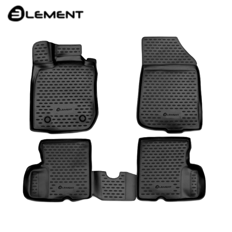 For Nissan Terrano 2WD 2014-2016 3D floor mats into saloon 4 pcs/set Element CARNIS10047K for datsun ondo 2014 2019 3d floor mats into saloon 4 pcs set element nlc3d9404210k