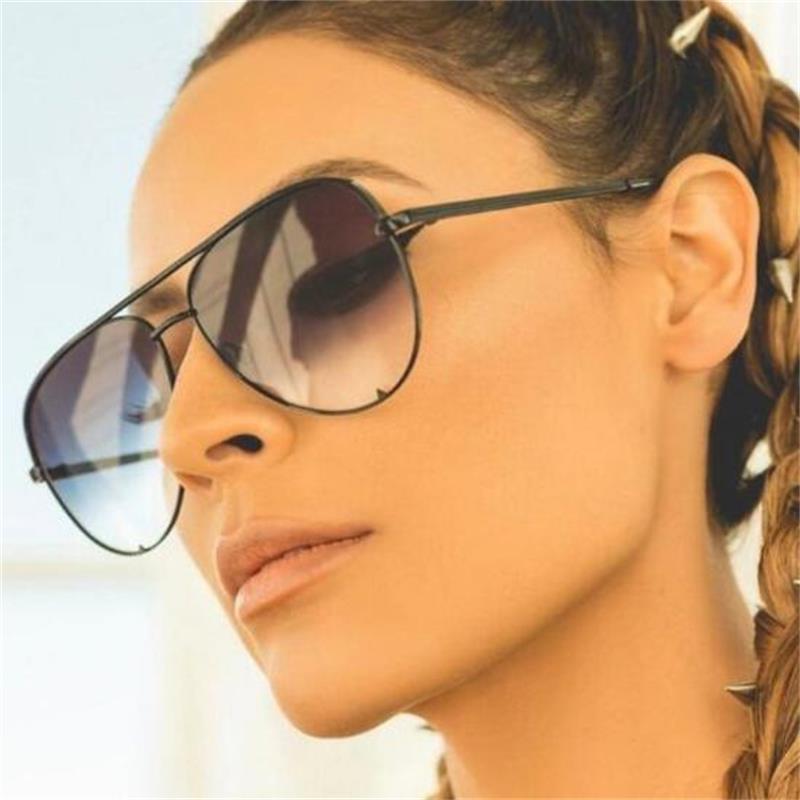 New black sunglasses women's brand designer fashion ladies sun glasses for women pilot 2018 luxury shades lunettes femme UV400 2