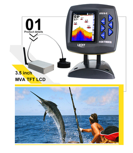 Image 3 - Fortunato FF918 CWLS Barca Fish Finder Display A Colori wireless range di funzionamento 300 m Gamma di Profondità 100 M