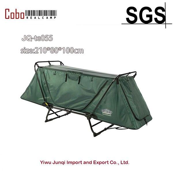 Pliant Camping Tente Étanche 1 Personne Polyvalente Lit de Couchage En Plein Air Lit Tente