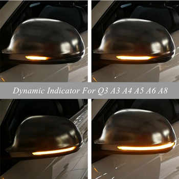 For Audi A4 A5 B8 S4 S5 Q3 SQ3 A3 8P A6 C6 4F S6 A8 D3 8K LED Dynamic Turn Signal Blinker Sequential Side Mirror Indicator Light - DISCOUNT ITEM  9% OFF Automobiles & Motorcycles
