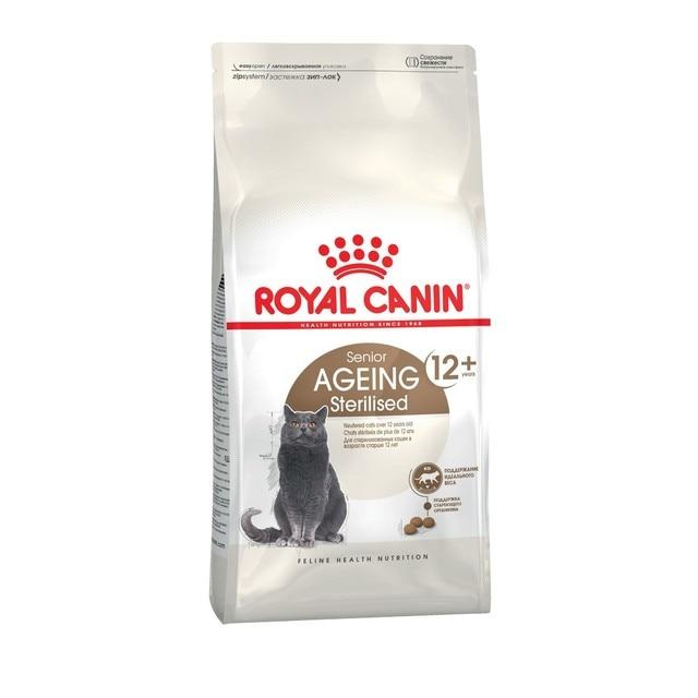 Royal Canin Sterilised 12+ корм для стерилизованных кошек и кастрированных котов старше 12 лет, 2 кг
